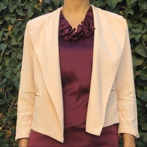 Cabi crop light pink blazer